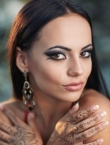 Photo of beautiful  woman Alyona with brown hair and brown eyes - 22257