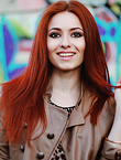 Photo of beautiful  woman Elena with red hair and brown eyes - 17957