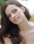 Photo of beautiful  woman Evgenia with brown hair and grey eyes - 22692