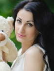 Photo of beautiful  woman Ksenia with black hair and green eyes - 21443