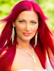 Photo of beautiful  woman Oksana with red hair and green eyes - 22526