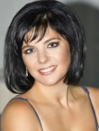 Photo of beautiful  woman Olga with black hair and blue eyes - 20663