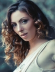 Photo of beautiful  woman Olga with light-brown hair and green eyes - 22149